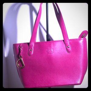 Authentic Ralph Lauren pink handbag